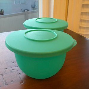 Tupperware 2 Impressions Bowls and Lids